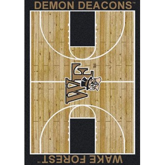 "Milliken College Home Court (NCAA) Wake Forest 01462 Court Rectangle (4000018521) 7'8"" x 10'9"" Area Rug"