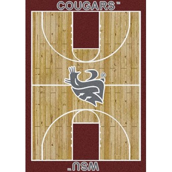 "Milliken College Home Court (NCAA) Washington State 01466 Court Rectangle (4000018523) 7'8"" x 10'9"" Area Rug"