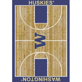 "Milliken College Home Court (NCAA) Washington 01464 Court Rectangle (4000018522) 7'8"" x 10'9"" Area Rug"