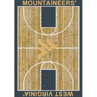 "Milliken College Home Court (NCAA) West Virginia 01470 Court Rectangle (4000018354) 3'10"" x 5'4"" Area Rug"