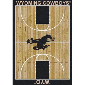 "Milliken College Home Court (NCAA) Wyoming 01491 Court Rectangle (4000018526) 7'8"" x 10'9"" Area Rug"