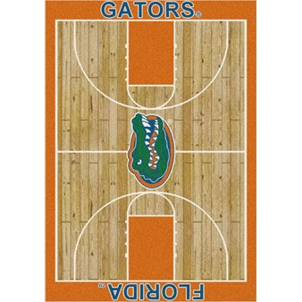 "Milliken College Home Court (NCAA-CRT) Florida 01500 Court Rectangle (4000096091) 10'9"" x 13'2"" Area Rug"