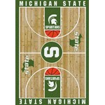 "Milliken College Home Court (NCAA-CRT) Michigan State 01180 Court Rectangle (4000016031) 10'9"" x 13'2"" Area Rug"