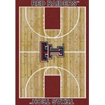 "Milliken College Home Court (NCAA-CRT) Texas Tech 01440 Court Rectangle (4000091964) 10'9"" x 13'2"" Area Rug"