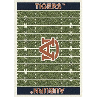 "Milliken College Home Field (NCAA) Auburn 01030 Home Field Rectangle (4000018682) 10'9"" x 13'2"" Area Rug"