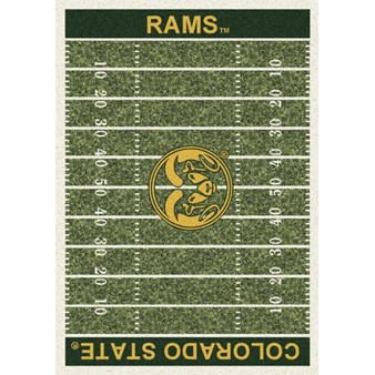 "Milliken College Home Field (NCAA) Colorado State 01065 Home Field Rectangle (4000018617) 7'8"" x 10'9"" Area Rug"