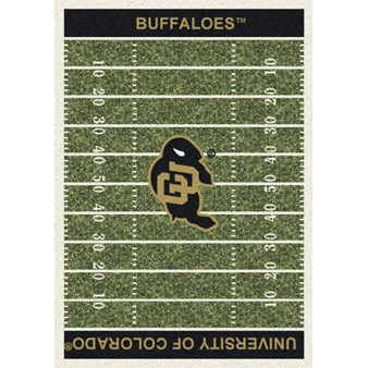 "Milliken College Home Field (NCAA) Colorado 01063 Home Field Rectangle (4000018616) 7'8"" x 10'9"" Area Rug"