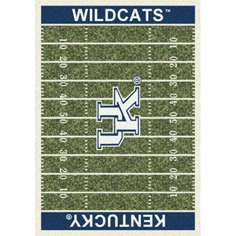 "Milliken College Home Field (NCAA) Kentucky 01140 Home Field Rectangle (4000018629) 7'8"" x 10'9"" Area Rug"