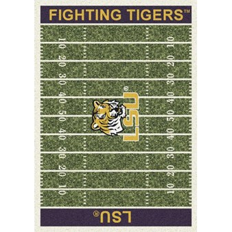 "Milliken College Home Field (NCAA) LSU 01152 Home Field Rectangle (4000018559) 5'4"" x 7'8"" Area Rug"