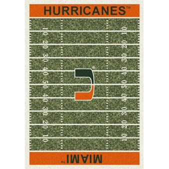 "Milliken College Home Field (NCAA) Miami 01157 Home Field Rectangle (4000018562) 5'4"" x 7'8"" Area Rug"