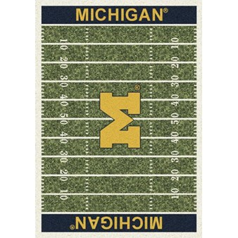 "Milliken College Home Field (NCAA) Michigan 01160 Home Field Rectangle (4000018635) 7'8"" x 10'9"" Area Rug"