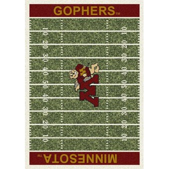 "Milliken College Home Field (NCAA) Minnesota 01185 Home Field Rectangle (4000018709) 10'9"" x 13'2"" Area Rug"