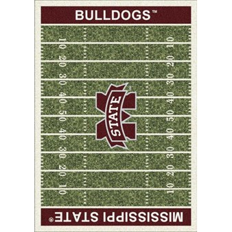 "Milliken College Home Field (NCAA) Mississippi State 01188 Home Field Rectangle (4000018567) 5'4"" x 7'8"" Area Rug"