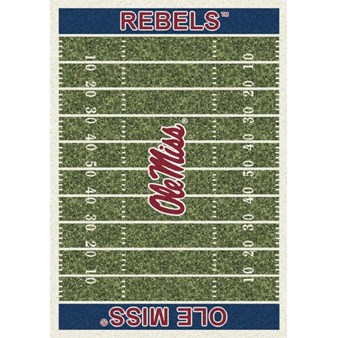 "Milliken College Home Field (NCAA) Mississippi 01186 Home Field Rectangle (4000018566) 5'4"" x 7'8"" Area Rug"