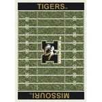 "Milliken College Home Field (NCAA) Missouri 01200 Home Field Rectangle (4000018568) 5'4"" x 7'8"" Area Rug"