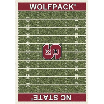 "Milliken College Home Field (NCAA) North Carolina State 01220 Home Field Rectangle (4000018641) 7'8"" x 10'9"" Area Rug"