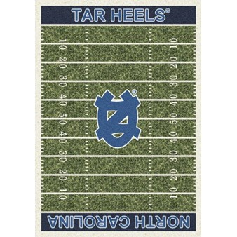 "Milliken College Home Field (NCAA) North Carolina 01250 Home Field Rectangle (4000018715) 10'9"" x 13'2"" Area Rug"