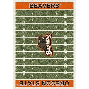"Milliken College Home Field (NCAA) Oregon State 01294 Home Field Rectangle (4000018576) 5'4"" x 7'8"" Area Rug"