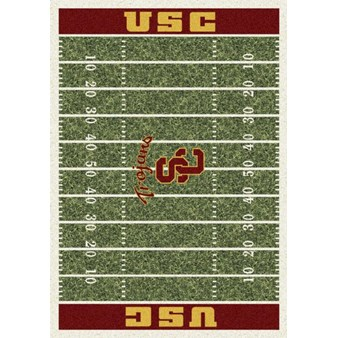"Milliken College Home Field (NCAA) Southern California 01370 Home Field Rectangle (4000018581) 5'4"" x 7'8"" Area Rug"