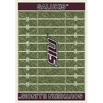 "Milliken College Home Field (NCAA) Southern Illinois 01380 Home Field Rectangle (4000018582) 5'4"" x 7'8"" Area Rug"