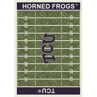 "Milliken College Home Field (NCAA) Texas Christian 01430 Home Field Rectangle (4000018589) 5'4"" x 7'8"" Area Rug"