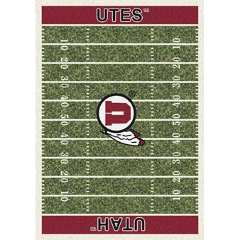 "Milliken College Home Field (NCAA) Utah 01452 Home Field Rectangle (4000018663) 7'8"" x 10'9"" Area Rug"