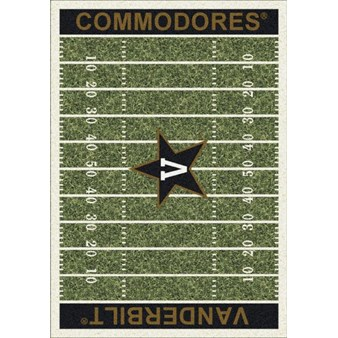 "Milliken College Home Field (NCAA) Vanderbilt 01453 Home Field Rectangle (4000096157) 7'8"" x 10'9"" Area Rug"