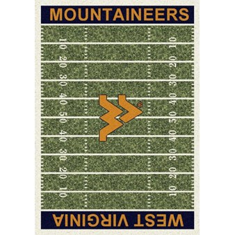 "Milliken College Home Field (NCAA) West Virginia 01470 Home Field Rectangle (4000018597) 5'4"" x 7'8"" Area Rug"