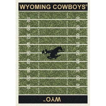 "Milliken College Home Field (NCAA) Wyoming 01491 Home Field Rectangle (4000018671) 7'8"" x 10'9"" Area Rug"