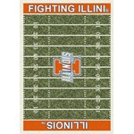 "Milliken College Home Field (NCAA-FLD) Illinois 01113 Home Field Rectangle (4000054629) 3'10"" x 5'4"" Area Rug"