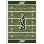 "Milliken College Home Field (NCAA-FLD) South Florida 01352 Home Field Rectangle (4000096146) 3'10"" x 5'4"" Area Rug"