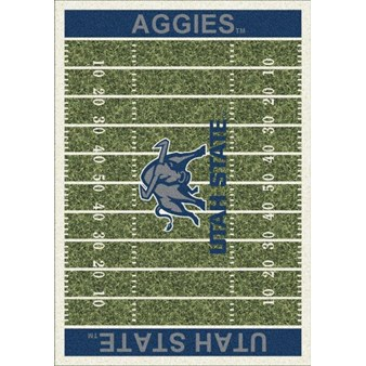 "Milliken College Home Field (NCAA-FLD) Utah State 01442 Home Field Rectangle (4000096150) 3'10"" x 5'4"" Area Rug"