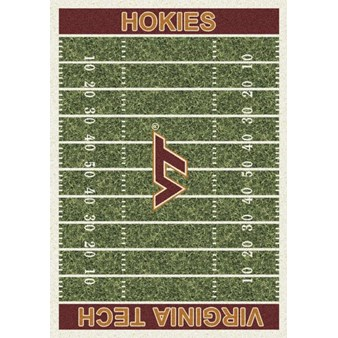 "Milliken College Home Field (NCAA-FLD) Virginia Tech 01460 Home Field Rectangle (4000054669) 3'10"" x 5'4"" Area Rug"