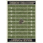 "Milliken College Home Field (NCAA-FLD) Wake Forest 01462 Home Field Rectangle (4000054670) 3'10"" x 5'4"" Area Rug"