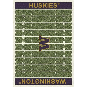 "Milliken College Home Field (NCAA-FLD) Washington 01464 Home Field Rectangle (4000054671) 3'10"" x 5'4"" Area Rug"