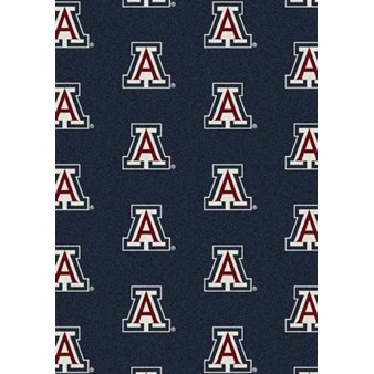 "Milliken College Repeating (NCAA) Arizona 01012 Repeat Rectangle (4000018823) 5'4"" x 7'8"" Area Rug"