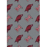 "Milliken College Repeating (NCAA) Arkansas 01020 Repeat Rectangle (4000018897) 7'8"" x 10'9"" Area Rug"