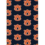 "Milliken College Repeating (NCAA) Auburn 01030 Repeat Rectangle (4000018970) 10'9"" x 13'2"" Area Rug"