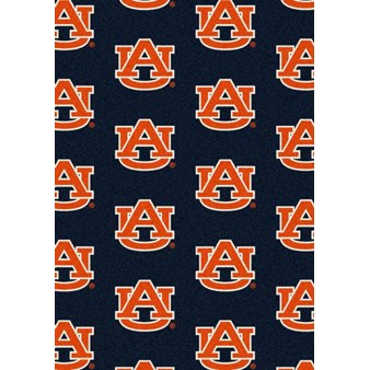 "Milliken College Repeating (NCAA) Auburn 01030 Repeat Rectangle (4000018898) 7'8"" x 10'9"" Area Rug"