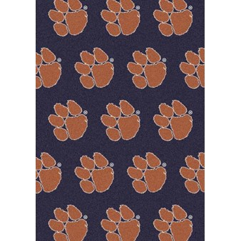 "Milliken College Repeating (NCAA) Clemson 01050 Repeat Rectangle (4000018759) 3'10"" x 5'4"" Area Rug"