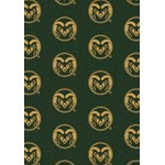 "Milliken College Repeating (NCAA) Colorado State 01065 Repeat Rectangle (4000018761) 3'10"" x 5'4"" Area Rug"