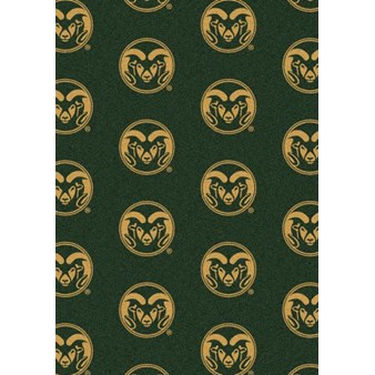 "Milliken College Repeating (NCAA) Colorado State 01065 Repeat Rectangle (4000018905) 7'8"" x 10'9"" Area Rug"