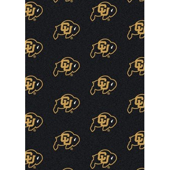"Milliken College Repeating (NCAA) Colorado 01063 Repeat Rectangle (4000018904) 7'8"" x 10'9"" Area Rug"