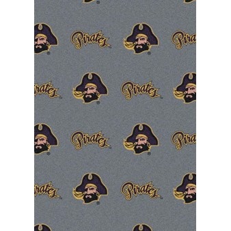 "Milliken College Repeating (NCAA) East Carolina 01068 Repeat Rectangle (4000018907) 7'8"" x 10'9"" Area Rug"