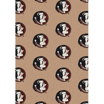"Milliken College Repeating (NCAA) Florida State 01514 Repeat Rectangle (4000018891) 5'4"" x 7'8"" Area Rug"