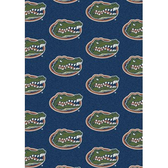 "Milliken College Repeating (NCAA) Florida 01500 Repeat Rectangle (4000018816) 3'10"" x 5'4"" Area Rug"