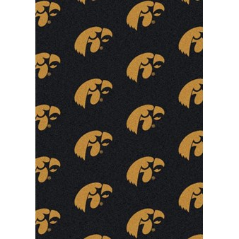 "Milliken College Repeating (NCAA) Iowa 01110 Repeat Rectangle (4000018767) 3'10"" x 5'4"" Area Rug"