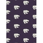 "Milliken College Repeating (NCAA) Kansas State 01125 Repeat Rectangle (4000018772) 3'10"" x 5'4"" Area Rug"
