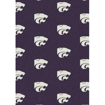 "Milliken College Repeating (NCAA) Kansas State 01125 Repeat Rectangle (4000018844) 5'4"" x 7'8"" Area Rug"