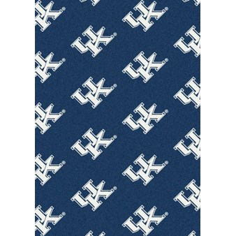 "Milliken College Repeating (NCAA) Kentucky 01140 Repeat Rectangle (4000018917) 7'8"" x 10'9"" Area Rug"